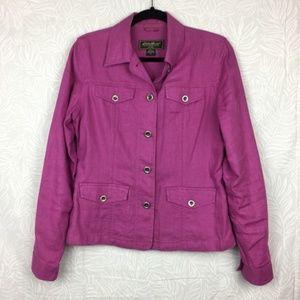 EDDIE BAUER 100% linen lightweight jacket X5